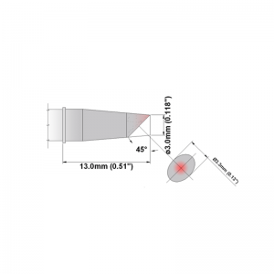 Thermaltronics K Series Tip Cartridges KxxBV030