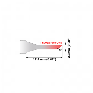 Thermaltronics K Series Tip Cartridges KxxBVF020