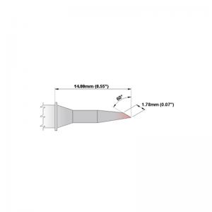 M6BV350 Thermaltronics soldering tip Bevel 60° 1.78mm