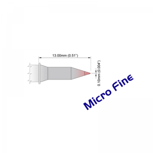 """NEW Thermaltronics M7CH178H Soldering Tip Chisel 30° 1.0mm 0.04/"""" Power Plus"""