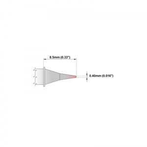 M6CS152 Thermaltronics soldering tip Conical Sharp 0.4mm STTC-022