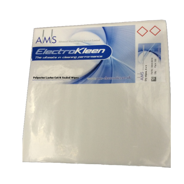 polyester laser cut and sealed wipes