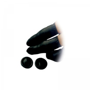Black latex anti-static finger cots