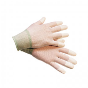 Carbon ESD PU Finger Tip Coated Gloves