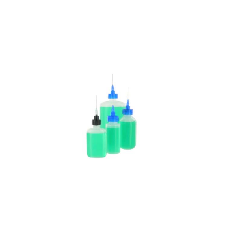 LDPE dispensing bottles with needle tips