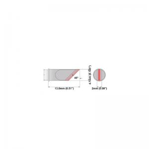 M7K047 Thermaltronics soldering tip Knife 4.70mm