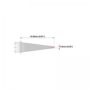 M8CS155 Thermaltronics soldering tip Conical Sharp 0.5mm STTC-843